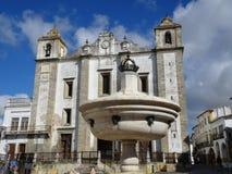 Portugal, Evora, el centro de ciudad histórico Imagen de archivo libre de regalías