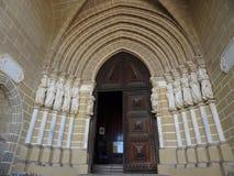 Portugal, Evora, entrada a la catedral del SE Fotografía de archivo libre de regalías