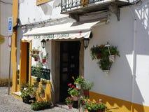 Portugal, Evora, floristería Imágenes de archivo libres de regalías