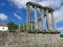 Portugal, Evora, vista del templo romano de Diana Fotos de archivo libres de regalías