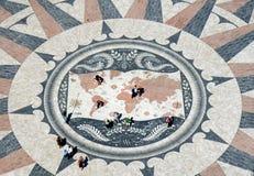portugal för belem översiktstrottoar rose wind Royaltyfri Foto