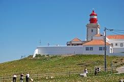 portugal för caboda-fyr roca Arkivbild