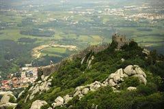 portugal för casteloDOS-mouros sintra Arkivbild