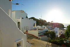 portugal för olhos för aguaalgarve algrave D soluppgång Royaltyfria Foton