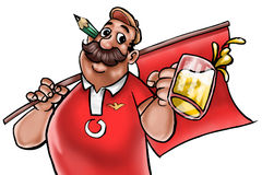 Portugal fan. A portugal rooter stock illustration