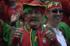 Portugal Fan at EURO 2008 royalty free stock images