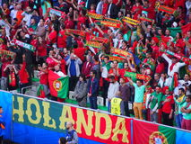 Portugal fans dressed up Royalty Free Stock Images