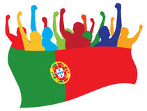 Portugal fans illustration Stock Photos