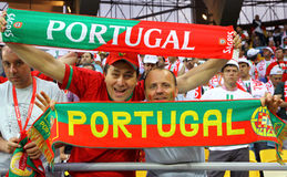 Portugal fans show their support Royalty Free Stock Photography