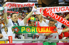 Portugal fans show their support Royalty Free Stock Photo