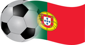 Portugal  flag. Portugal  ball flag illustration Royalty Free Stock Photos