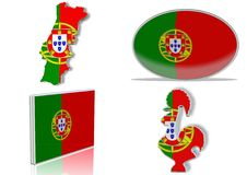 Portugal flag Royalty Free Stock Image