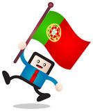 Portugal flag Royalty Free Stock Images