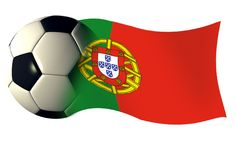 Portugal flag. World cup illustration Stock Photo