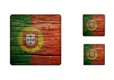 Portugal Flag Buttons Royalty Free Stock Photography