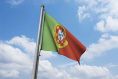 Portugal Flag with Clouds Royalty Free Stock Images
