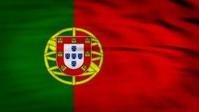 Portugal flag 3d rendered stock illustration