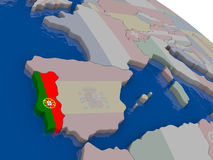 Portugal with flag Royalty Free Stock Photography