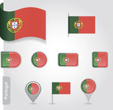 Portugal flag icon Royalty Free Stock Photography
