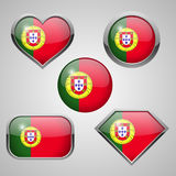 Portugal flag icons. Royalty Free Stock Image