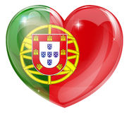 Portugal flag love heart Royalty Free Stock Image