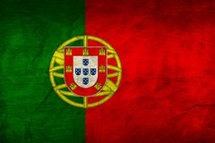 Portugal Flag on Paper. Flag on an old Paper Texture Royalty Free Stock Image