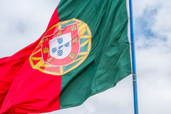 Portugal - Flag. The portuguese flag blowing in the wind Royalty Free Stock Photography