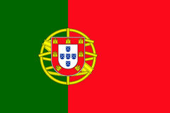 Portugal flag vector Royalty Free Stock Images