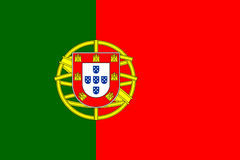 Portugal flag vector Stock Photography