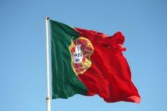 Portugal flagga Arkivbild