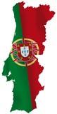 Portugal flagga Arkivfoto