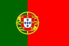Portugal flaggavektor vektor illustrationer