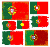 Portugal-Flaggensammlungsvektor Stockfotos