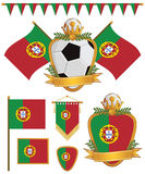 Portugal flags Stock Photos
