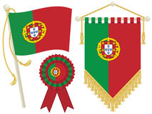 Portugal flags Royalty Free Stock Images