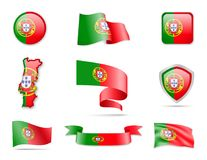 Portugal Flags Collection Stock Photos