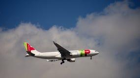 Portugal flygbuss A330 arkivbild