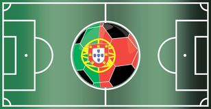 Portugal football field Royalty Free Stock Photo