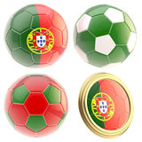 Portugal football team attributes isolated Stock Photography