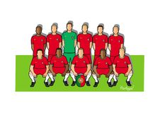 Portugal football team 2018. Qualified for the 2018 world cup in Russia Stock Photo