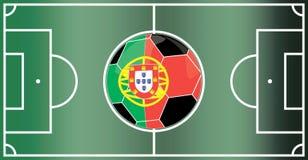 Portugal fotbollfält Royaltyfri Foto