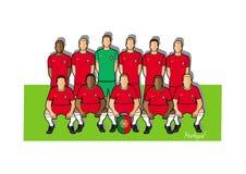 Portugal fotbollslag 2018 royaltyfri illustrationer