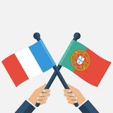 Portugal France finals football Royalty Free Stock Photos