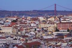 Portugal: Gebouwen in centraal Lissabon Stock Afbeelding