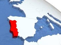 Map Of Portugal On Globe Stock Illustration Image - Portugal globe map