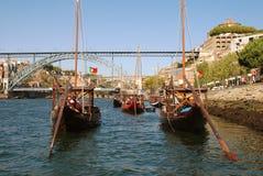 Portugal, Hafen von Schiffen stockfotos