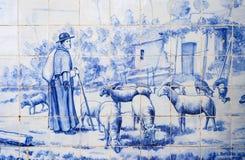 Portugal, historical Azulejo ceramic tiles Royalty Free Stock Images