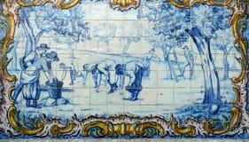 Portugal, historical Azulejo ceramic tiles Stock Photography