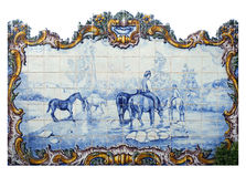 Portugal, historical Azulejo ceramic tiles Stock Image