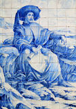 Portugal, historical Azulejo ceramic tiles Royalty Free Stock Images